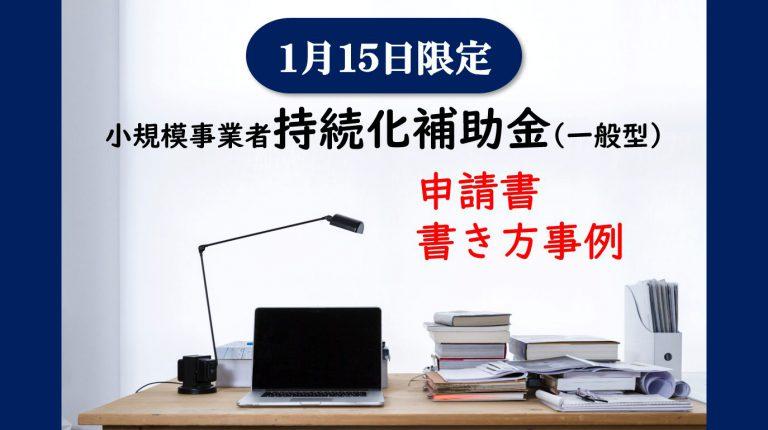 小規模事業者持続化補助金申請書 書き方事例 記載例